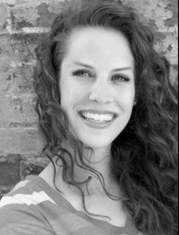 Grayscale headshot of dance instructor Erin Merkley